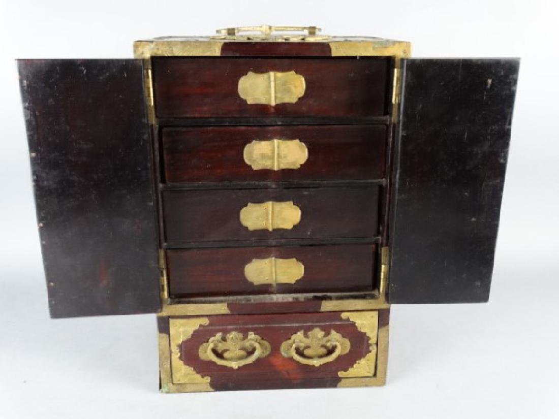 Very Ornate Wood Box w/ Highly Carved Inserts - 4