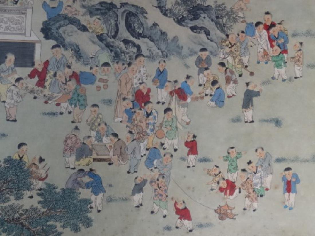 Large Chinese Painting w/ Gold Frame - 3
