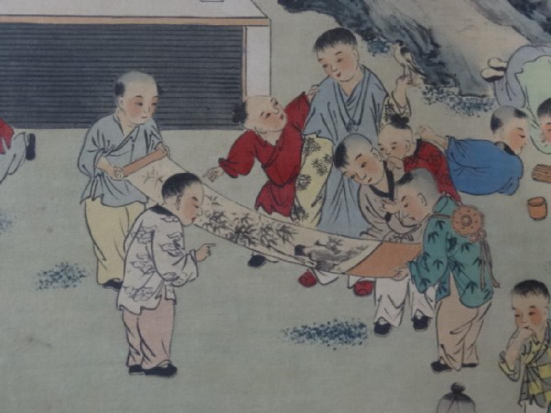 Large Chinese Painting w/ Gold Frame - 5