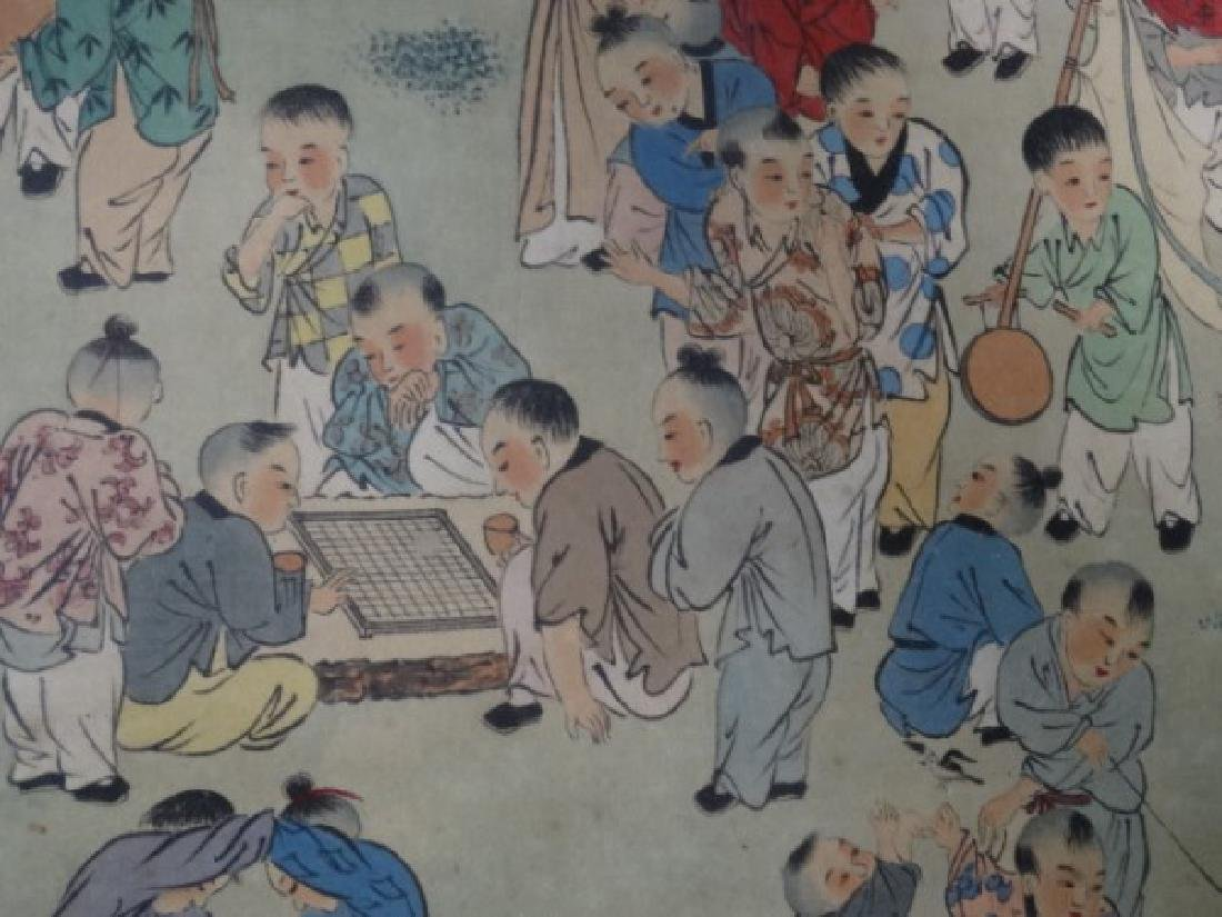Large Chinese Painting w/ Gold Frame - 6