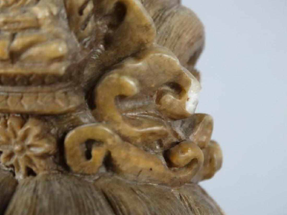 Chinese Carved Shoushan Stone Guanyin on Base - 5