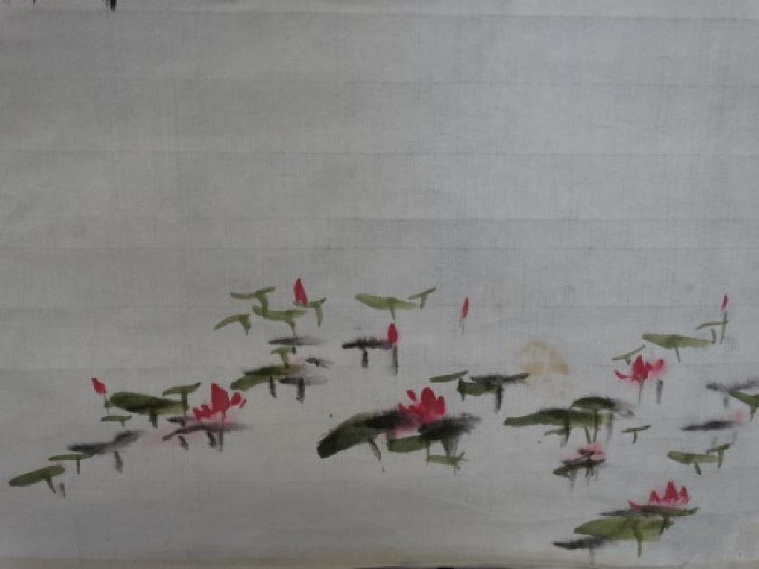 Chinese Watercolor Painting - House & Lily Pads - 3