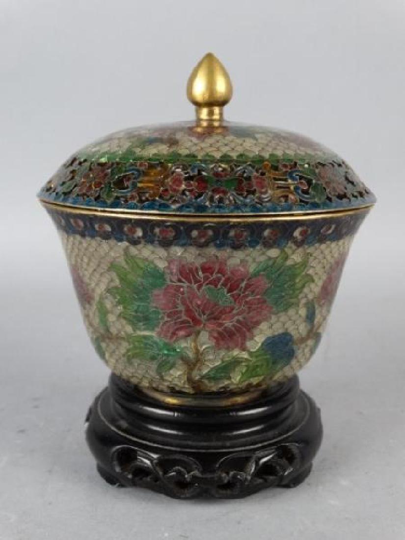 Plique-a-jour Lidded Jar