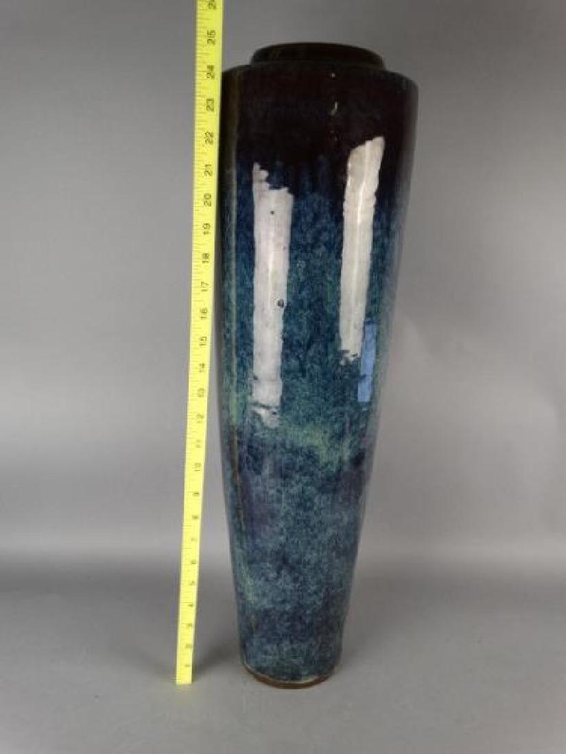 Large Chinese Flame Glazed Yixing Pottery Vase - 2