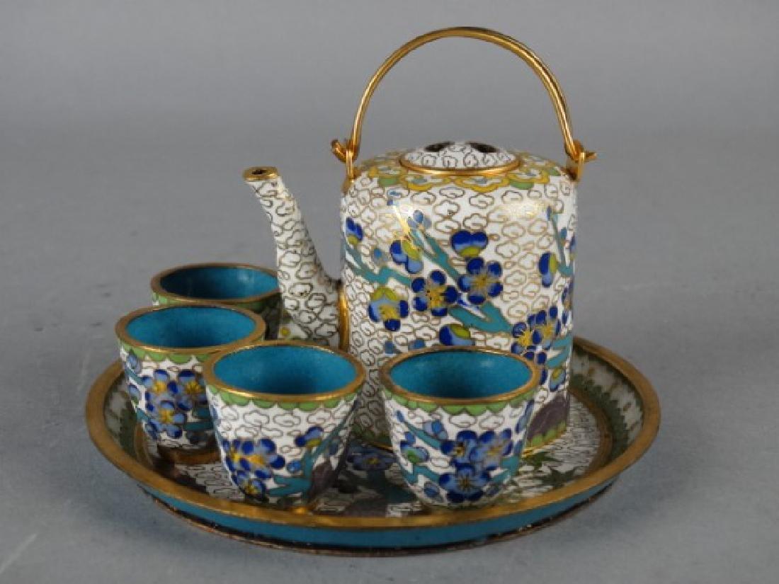 Miniature Cloisonne Tea Service