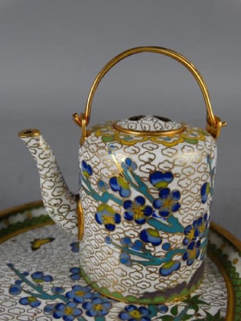 Miniature Cloisonne Tea Service - 4