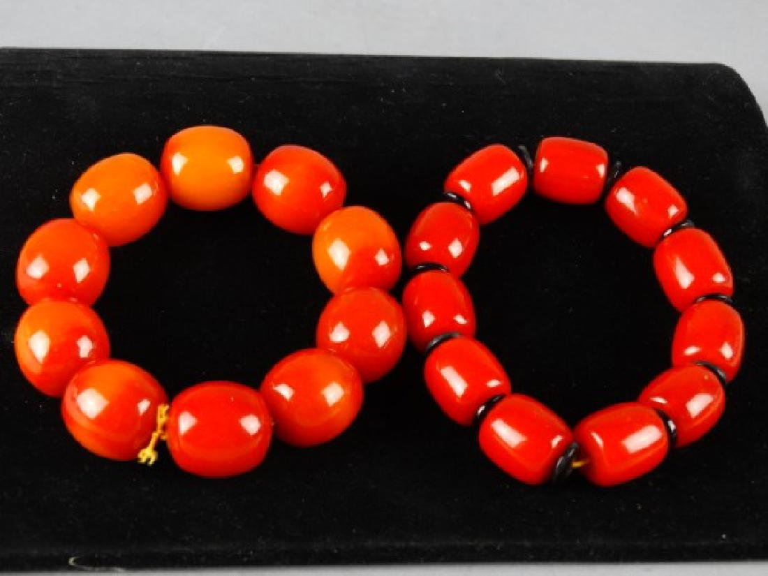 Lot of 2 Stretch Bead Bracelets