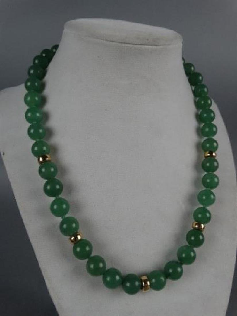 Jade Necklace w/ Gold Spacers