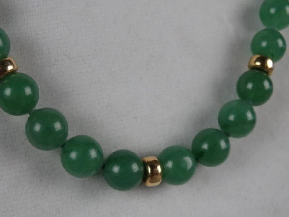 Jade Necklace w/ Gold Spacers - 2