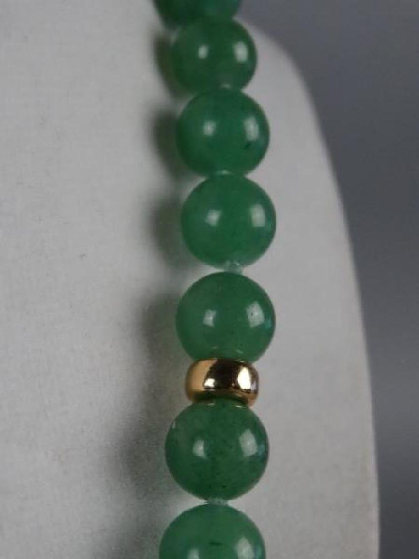Jade Necklace w/ Gold Spacers - 3