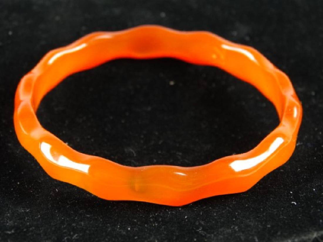 Highly Carved Agate Bangle
