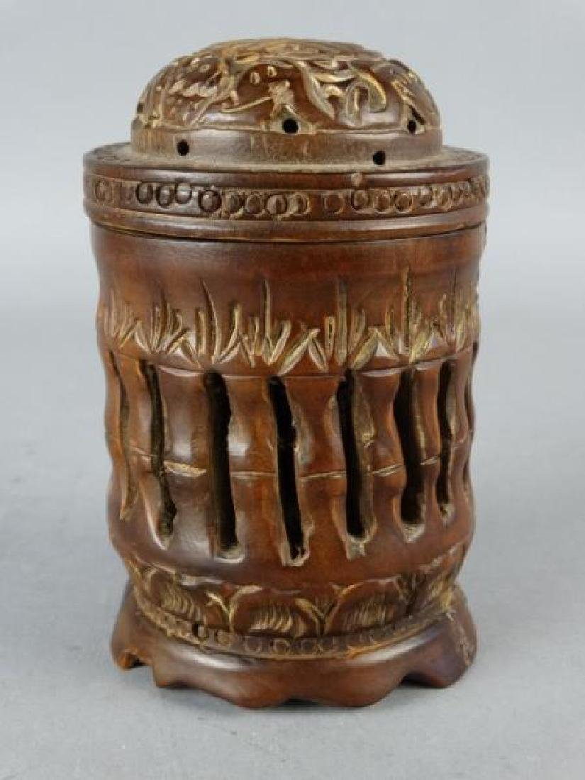 Carved Wooden Cricket Cage