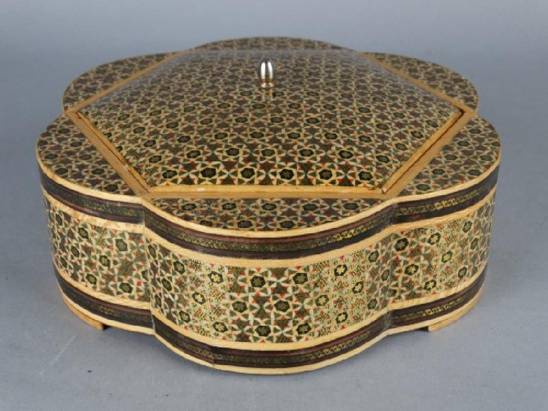 Large Middle Eastern Inlaid & Painted Box