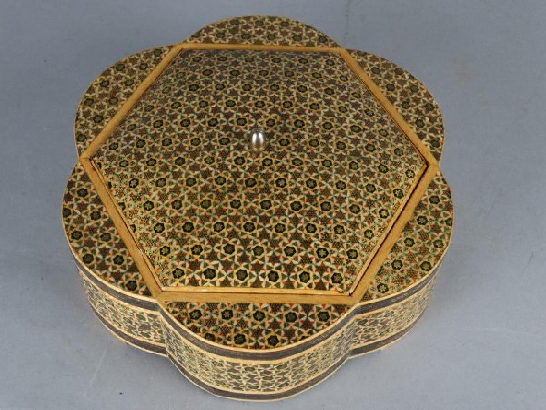 Large Middle Eastern Inlaid & Painted Box - 2