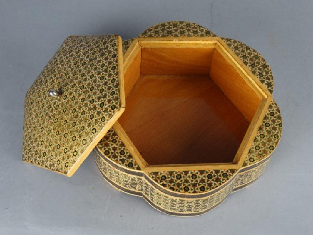 Large Middle Eastern Inlaid & Painted Box - 3