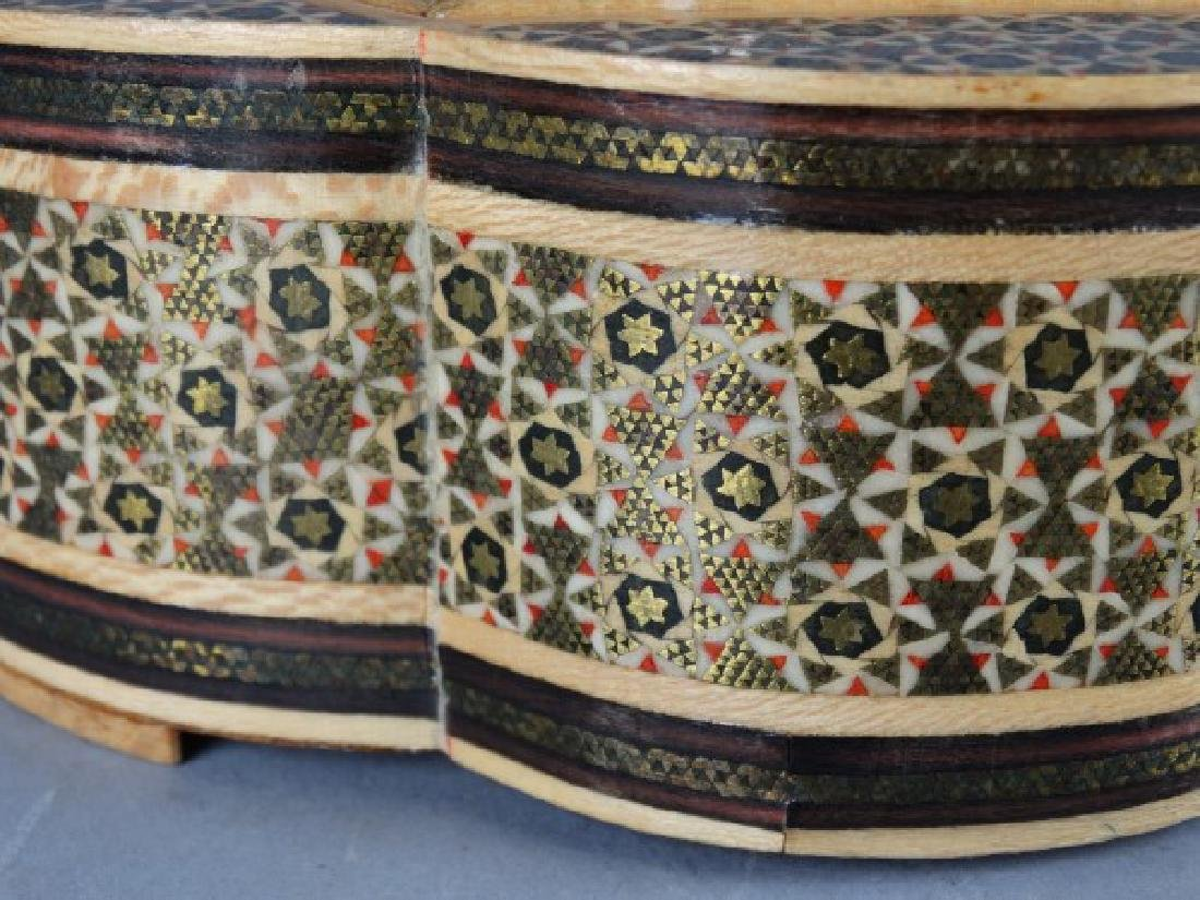 Large Middle Eastern Inlaid & Painted Box - 4