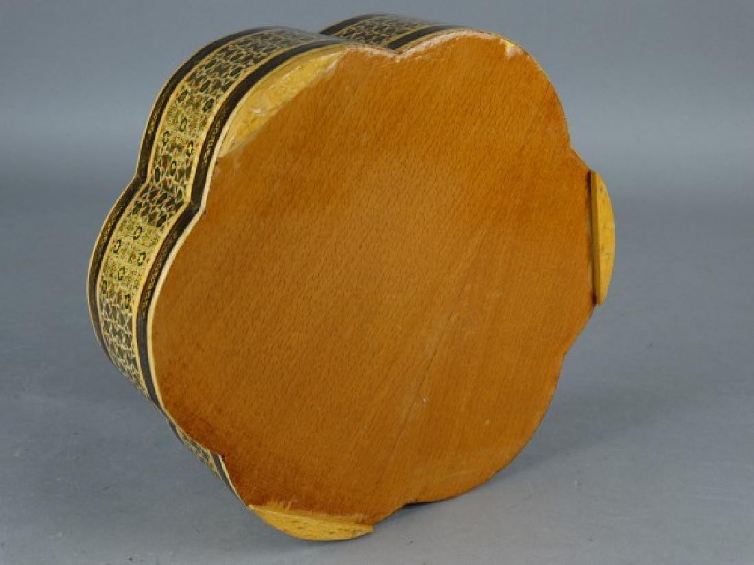 Large Middle Eastern Inlaid & Painted Box - 5