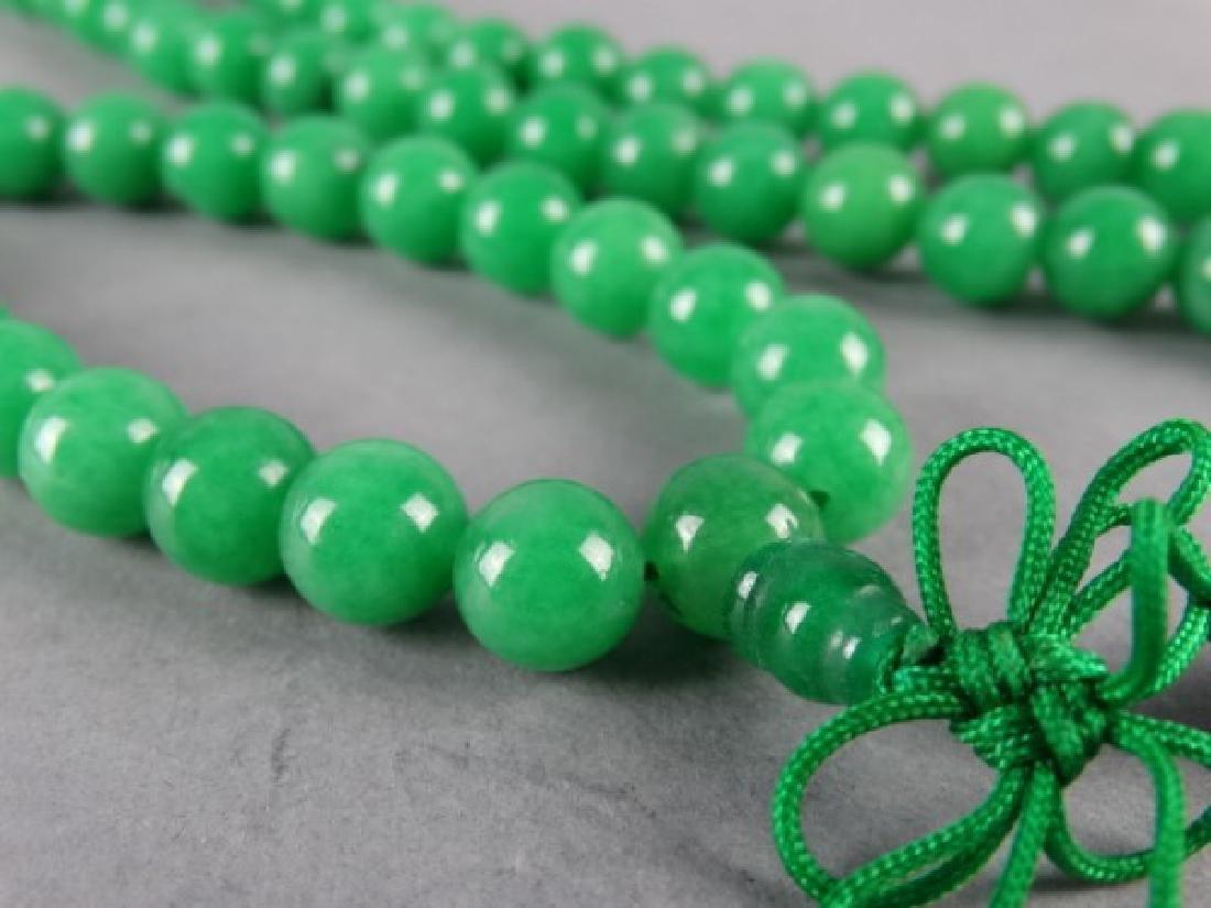 Green Jade Prayer Bead Necklace - 2