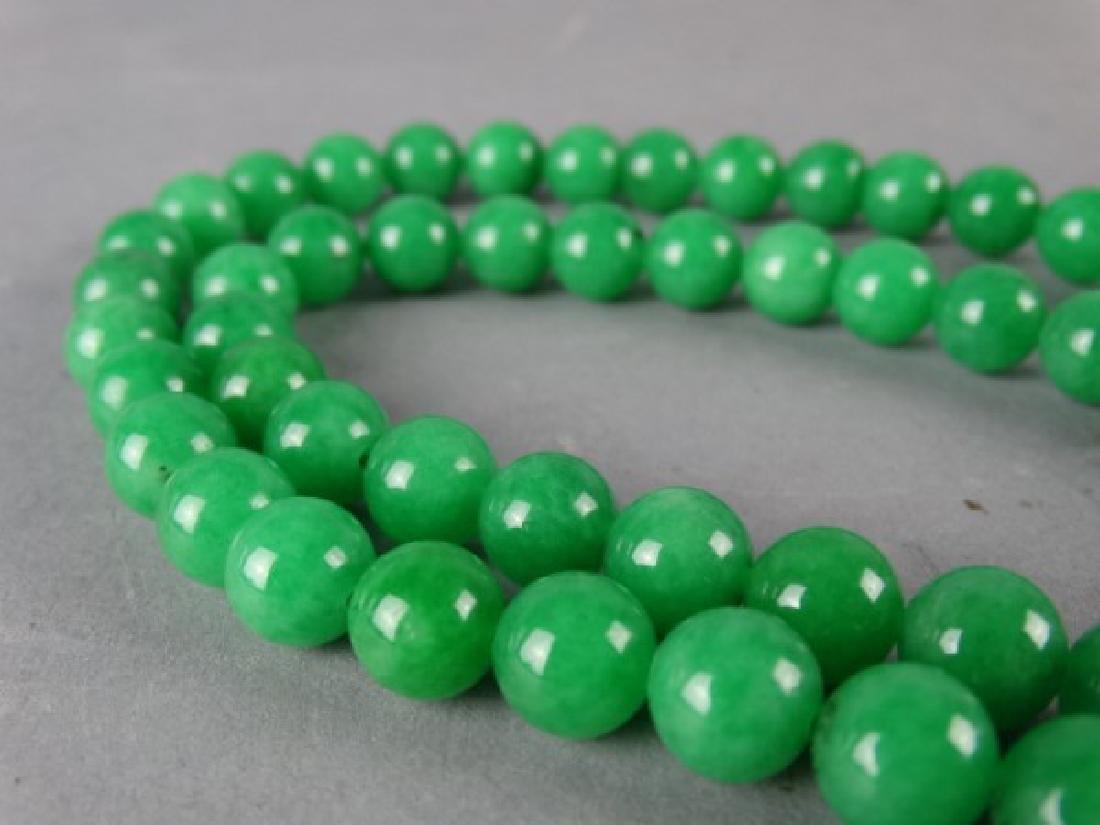 Green Jade Prayer Bead Necklace - 3