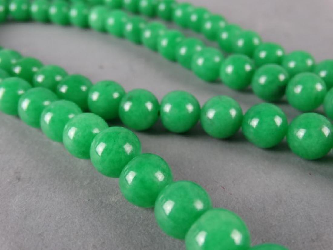 Green Jade Prayer Bead Necklace - 4
