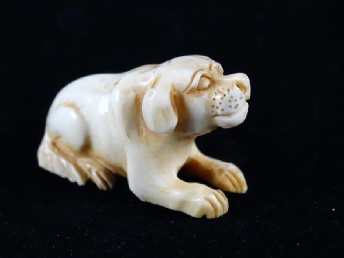 Carved Netsuke - Dog