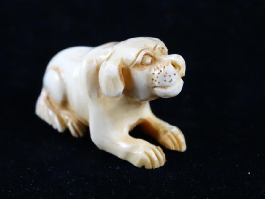 Carved Netsuke - Dog - 2
