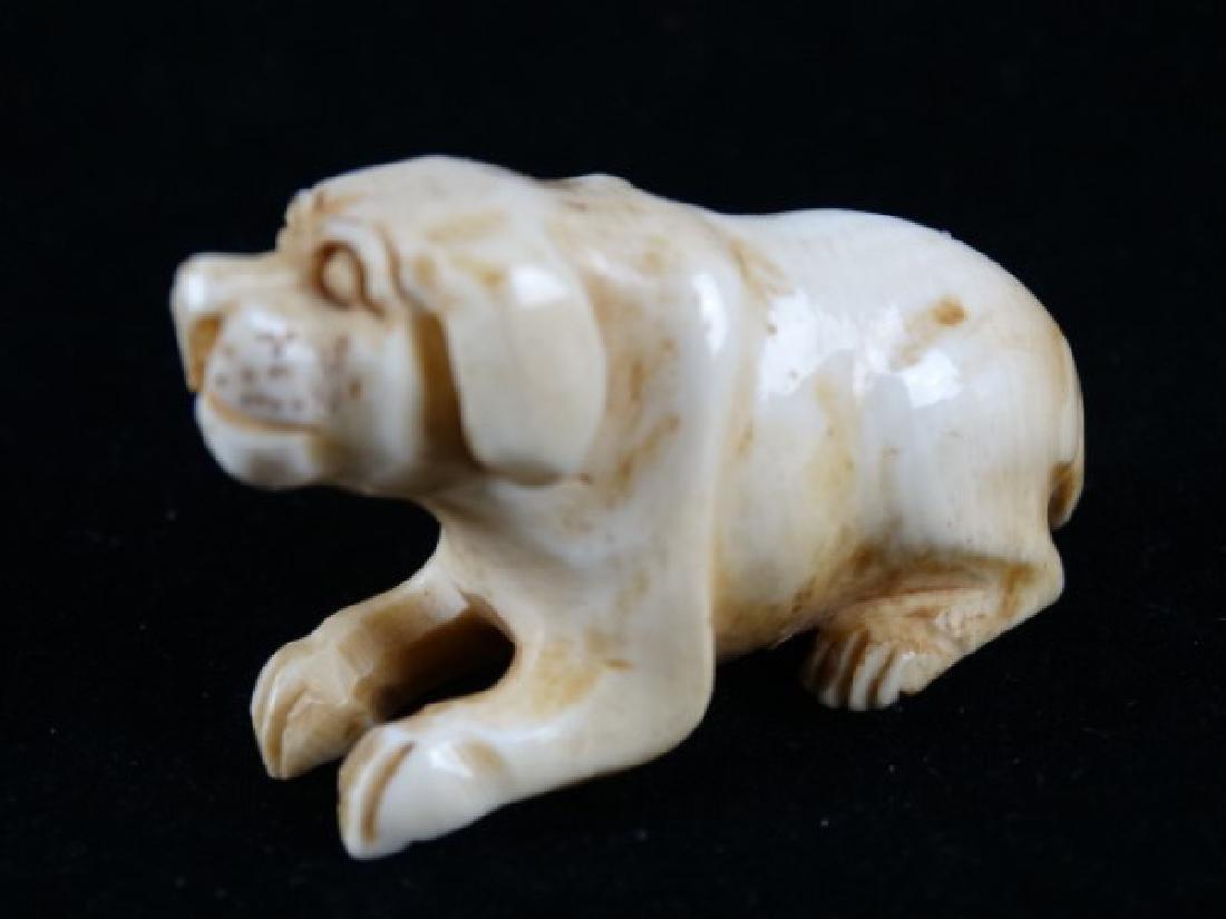 Carved Netsuke - Dog - 3