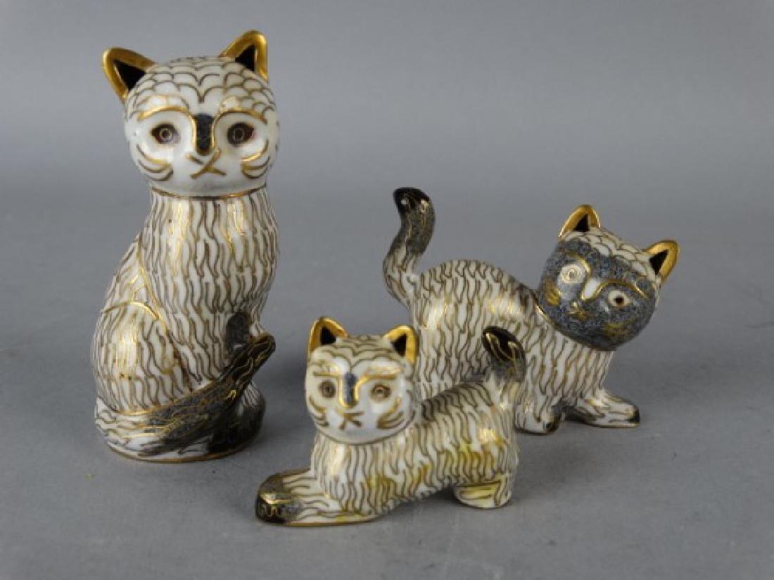 Lot of 3 Cloisonne Cats