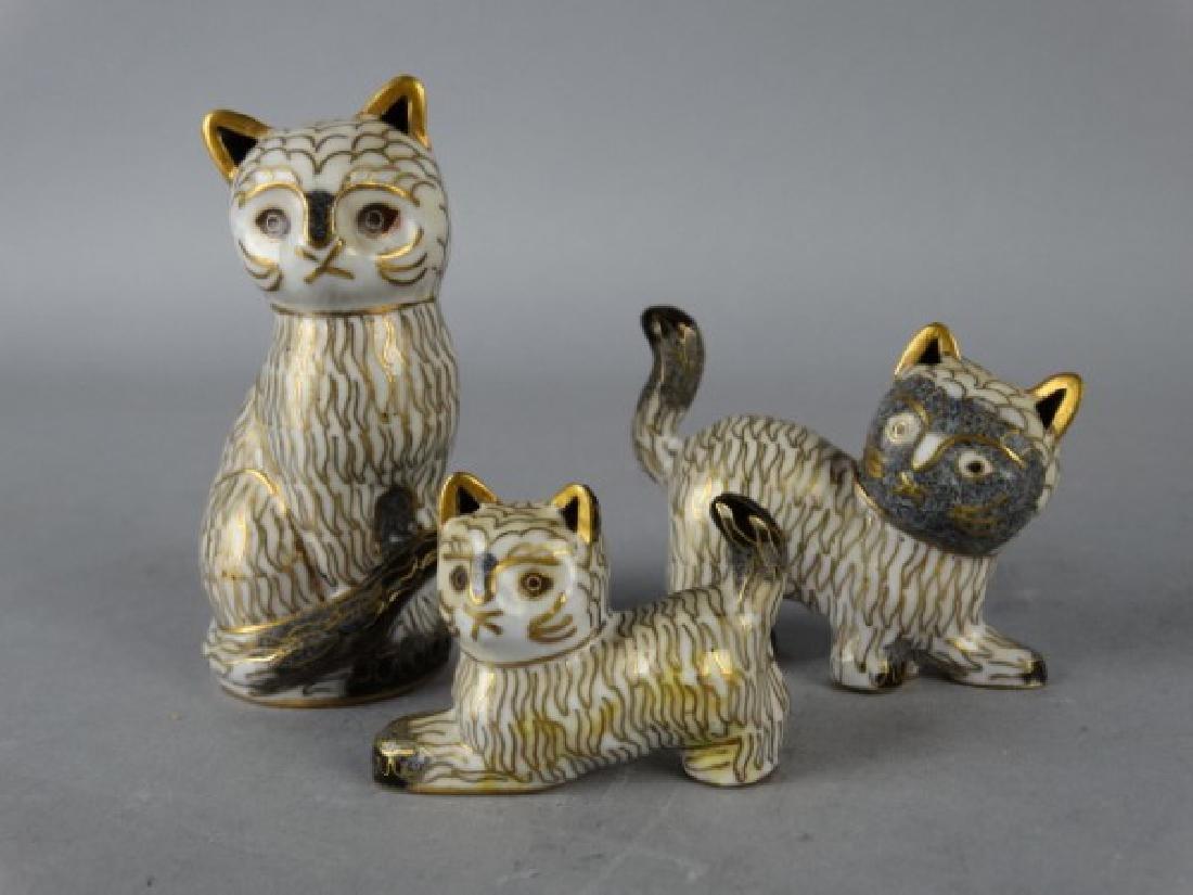 Lot of 3 Cloisonne Cats - 2