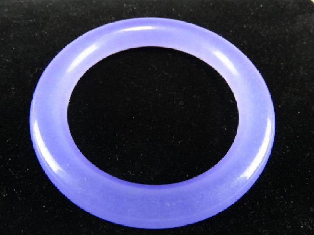 Lavender Jade Bangle - 2