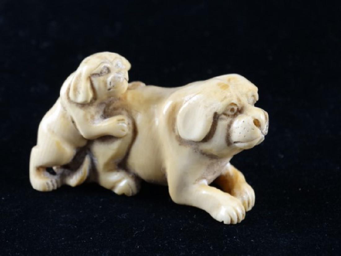 Japanese Netsuke - Dogs