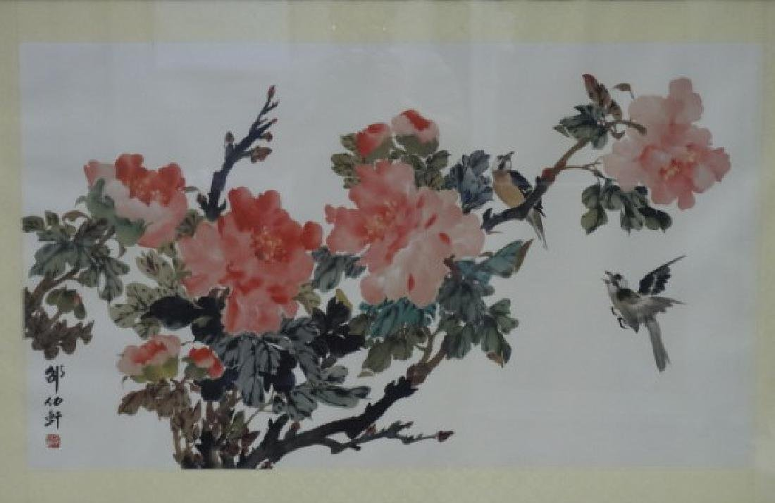 Framed Chinese Print - Flowers