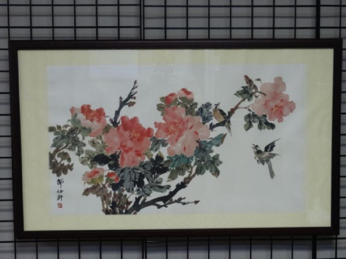 Framed Chinese Print - Flowers - 2