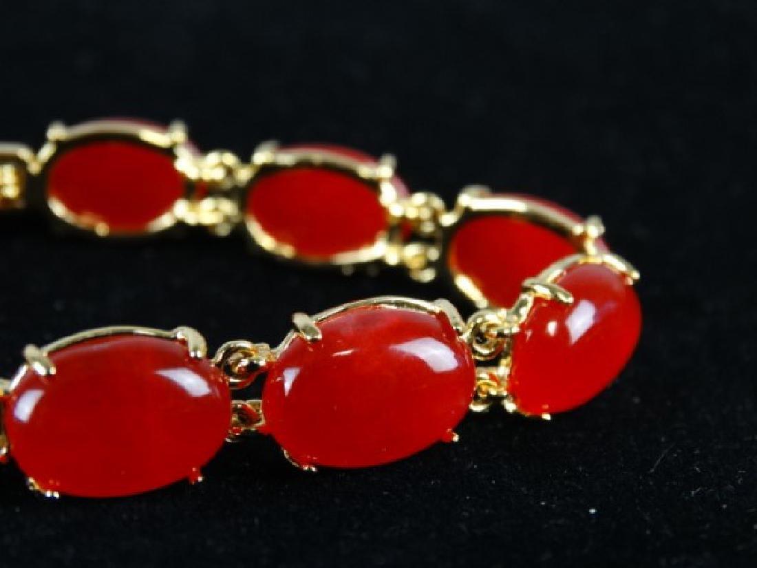 Orange Jade Bracelet - 3