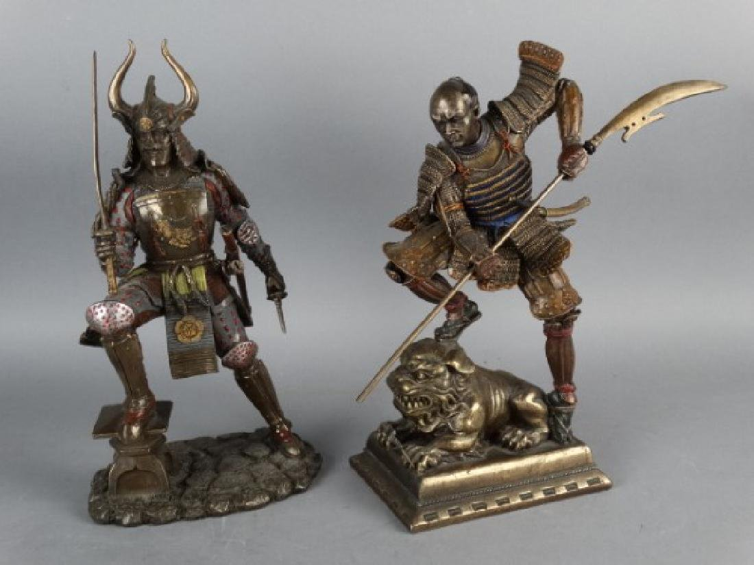Pair of Highly Detailed Japanese Samurai Figures