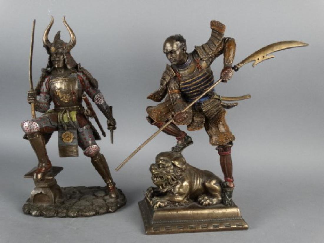 Pair of Highly Detailed Japanese Samurai Figures - 2