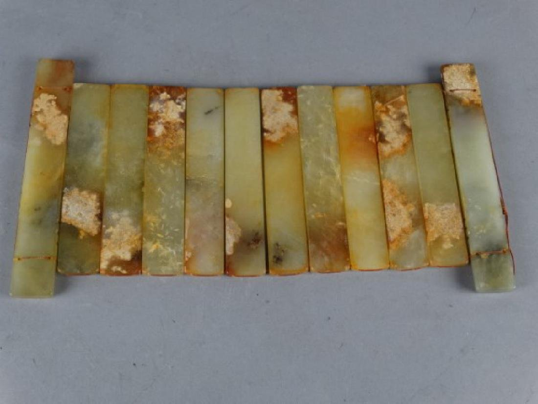Chinese Carved Jade Panel w/ Calligraphy - 4