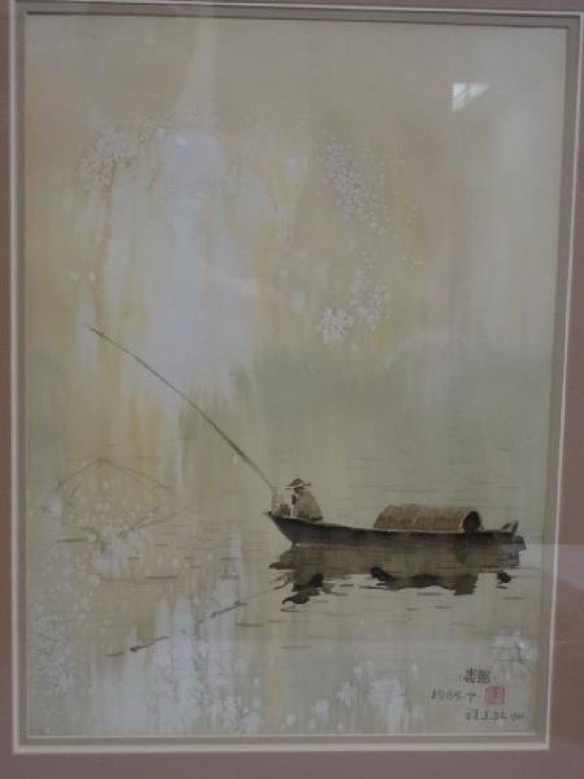 Chinese Watercolor Painting - Fisherman