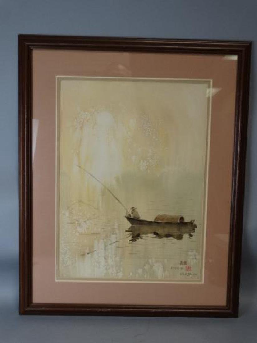 Chinese Watercolor Painting - Fisherman - 2