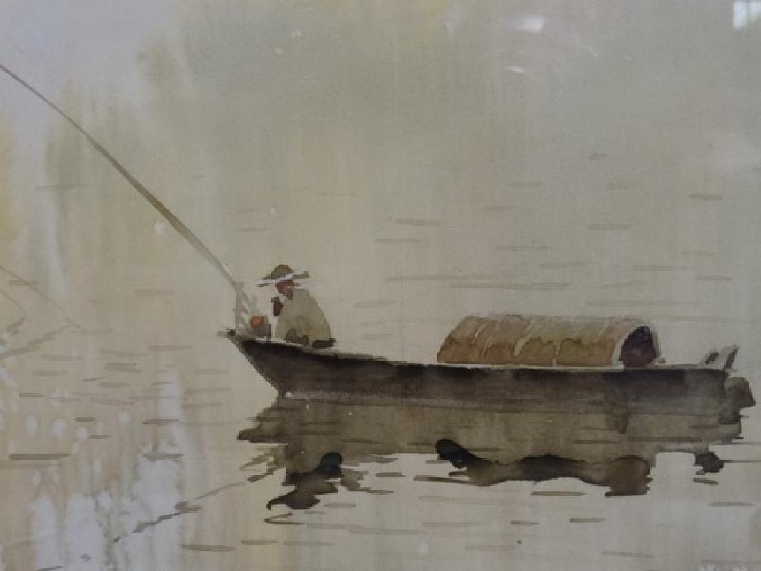 Chinese Watercolor Painting - Fisherman - 3