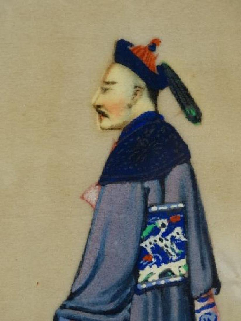 Antique Chinese Pith Painting - 3
