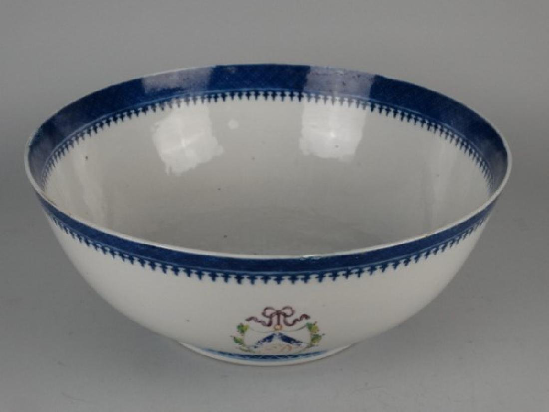 18c. Chinese Amorial Export Punch Bowl - 2