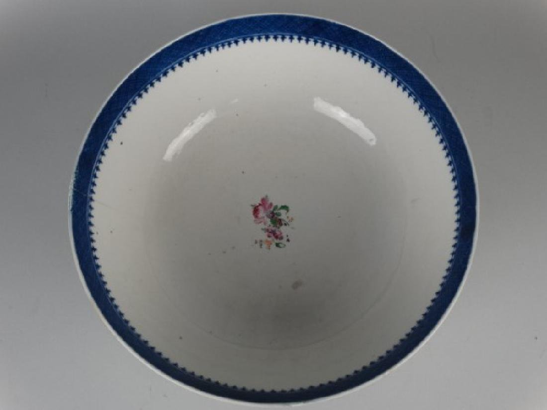 18c. Chinese Amorial Export Punch Bowl - 3