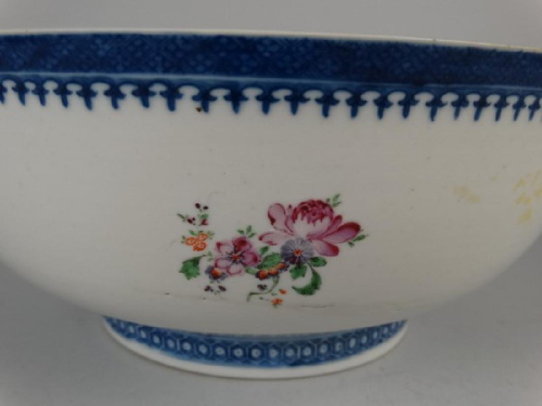 18c. Chinese Amorial Export Punch Bowl - 4