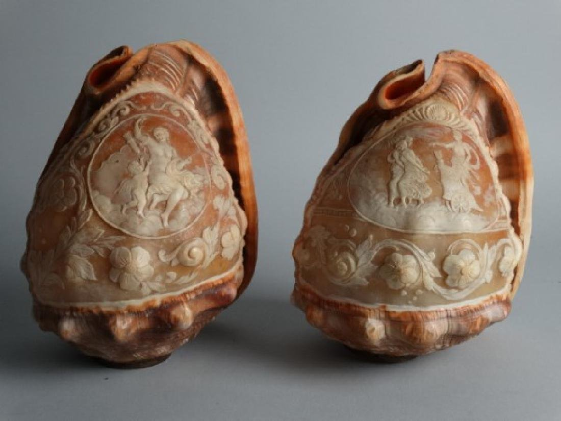 Two Victorian Carved Cameo Shells - 2