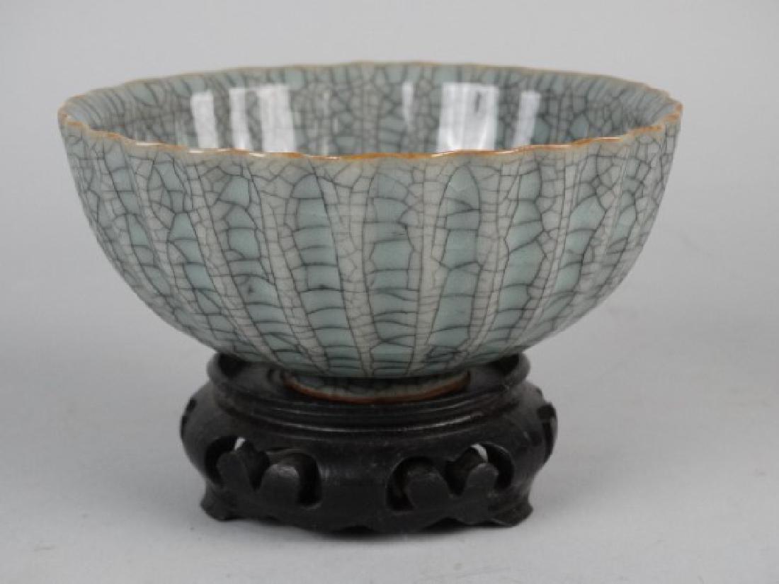 Chinese Crackle Glazed Celadon Bowl