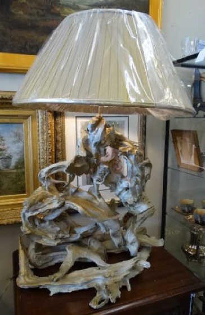 Large Gilt Driftwood Lamp