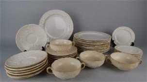 Lot of Salt-Glazed Staffordshire China Set