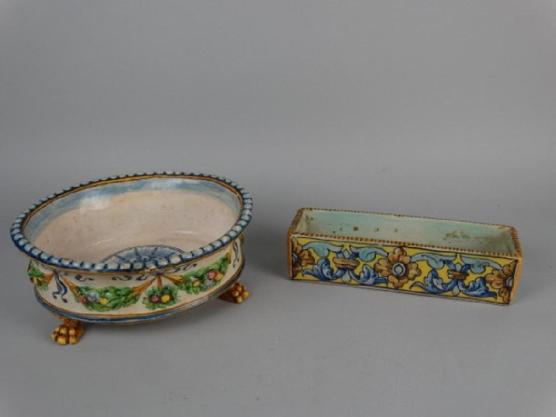 Lot of 2 Early Faience Dishes - 2