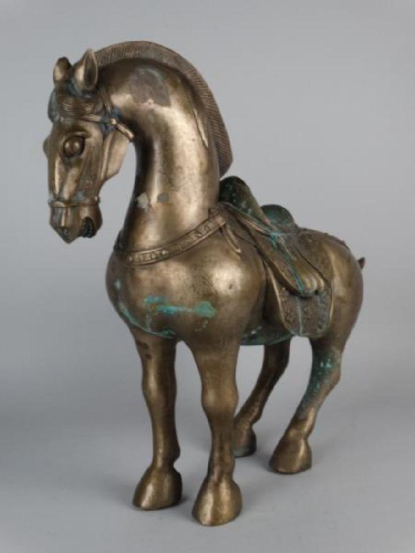 Chinese Metal Horse Sculpture